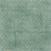 Argyle Buttons Paper- Green 19