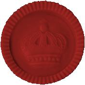 Argyle Buttons- Red Checker