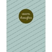 Argyle Buttons Journal Card- Light Blue- Warm Thoughts