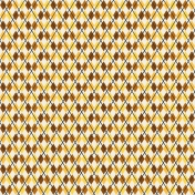 Boozy Beer Paper- Argyle Brown & Yellow