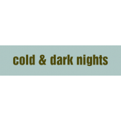 Argyle Buttons Tags- Cold & Dark Nights