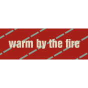 Argyle Buttons Tags- Warm By The Fire