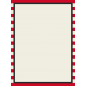 Move Journal Cards- Red Stripes