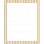 Move Frame- Tan Stripes