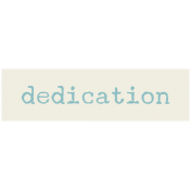 Move Label- Dedication