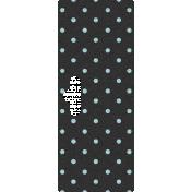 Move Tag- Black Polka Dot