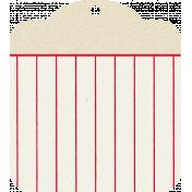 Move Tag- Tan Stripes