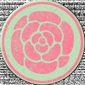 Pink Chipboard Circle