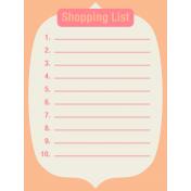 Thanksgiving Journal Card- Shopping List