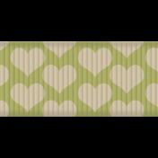 Thanksgiving Ribbon- Green & Cream Hearts