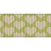 Thanksgiving Ribbon- Green & Cream Hearts