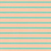Thanksgiving- Stripes Paper- Teal & Peach