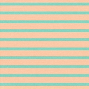 Thanksgiving- Stripes Paper- Teal & Peach