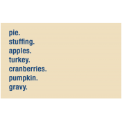 Thanksgiving Words- Foods