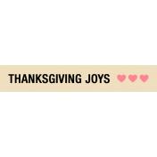Thanksgiving Words- Thanksgiving Joys