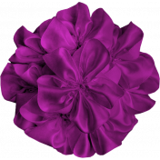 Brighten Up Fabric Flower- Purple