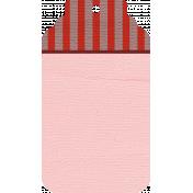 Smile Pretty Tag- Pink Stripes