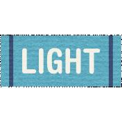Hanukkah Label- Light