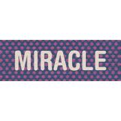 Hanukkah Label- Miracle