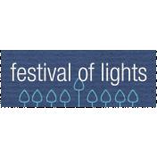 Hanukkah Label- Festival of Lights