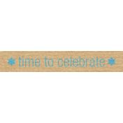 Hanukkah Label- Time To Celebrate