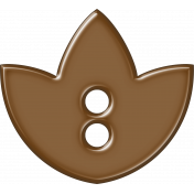 Brown Flower Button