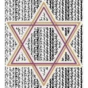 Hanukkah Star- Tan & Purple