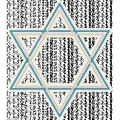 Hanukkah Star- Blue & Tan