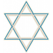 Hanukkah Star- Blue & Tan