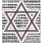 Hanukkah Star- Purple & Blue
