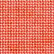 Brighten Up Paper- Houndstooth- Red & Orange