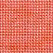 Brighten Up Paper- Houndstooth- Red & Orange
