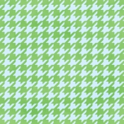 Brighten Up Paper- Houndstooth- Blue & Green
