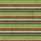 Stripes 69 Paper- Green & Brown