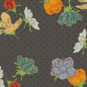 Floral 40 Paper- Gray & Colors