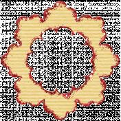 Vintage Blog Train- Glitter Flower