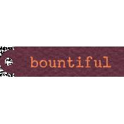 DST Nov 2013- Tag Bountiful