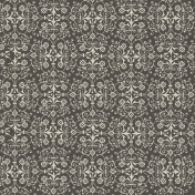 Damask 16 Paper- Gray & White