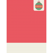 Deck The Halls Journal Card- Ribbon Ornament