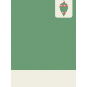 Deck The Halls Journal Card- Pointed Polka Dot Ornament