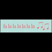 Deck The Halls- Label Fa La La La La