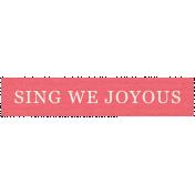 Deck The Halls- Label Sing We Joyous