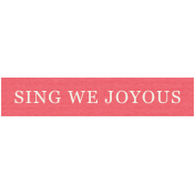 Deck The Halls- Label Sing We Joyous