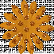 Orange Glitter Flower