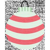 Deck The Halls- Ornament Striped Ball