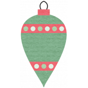 Deck The Halls- Ornament Polka Dotted Ribbon
