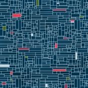 Grid 13 Paper- Navy