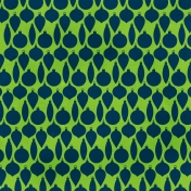 Ornament Patter- Green & Navy Paper