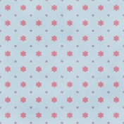Snowflakes Paper- Blue & Pink