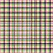 Plaid 33 Paper- Pink, Green & Purple